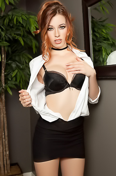 Naked secretary Caitlin Mcswain