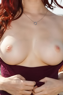 Sexy Jazz Reilly shows tits in public