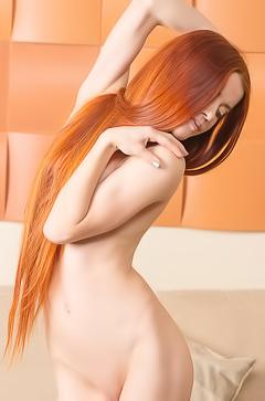 Redhead naked slut Kiva