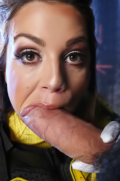 Abigail Mac sucking fat and hot dick