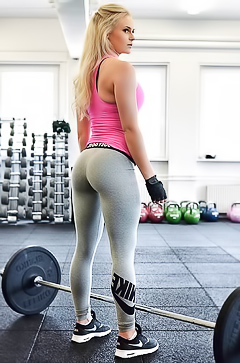 Swedish sporty babe Anna Nystrom
