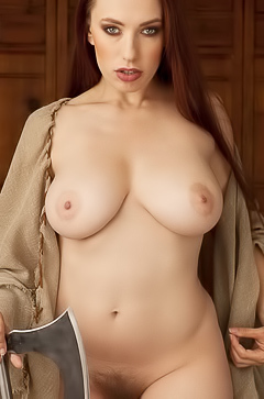Crazy wild and boobed Titania Lyn