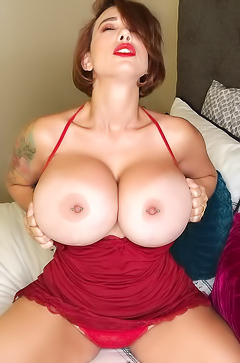 Brittany Elizabeth Playing With Her Huge Tits