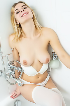 Young Russian Babe Yelena Showing Boobs