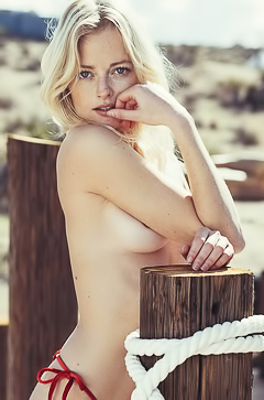 Megan Samperi is a topless oasis in the desert