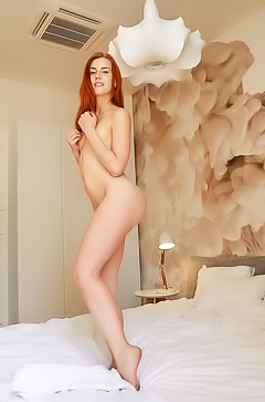 Charlie Red - Redhead with a naked body that is hotter than fire