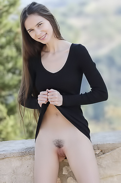 Shy Teen Leona Mia With A Little Hairy Hole