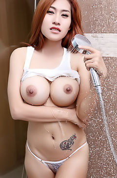 Asian Babe Linlin in the Shower