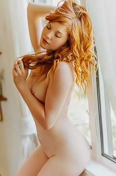 Redhead Beauty Amber Rose
