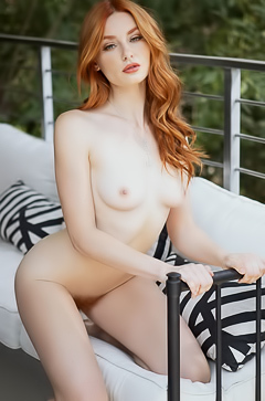 Stunning Redhead Model Lacy Lennon